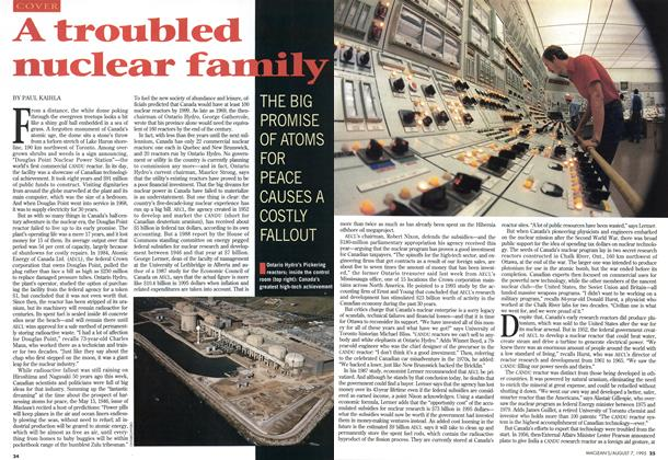 Article Preview: A troubled nuclear family, August 1995 | Maclean's