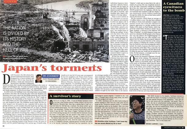 Article Preview: Japan's torments, August 1995 | Maclean's