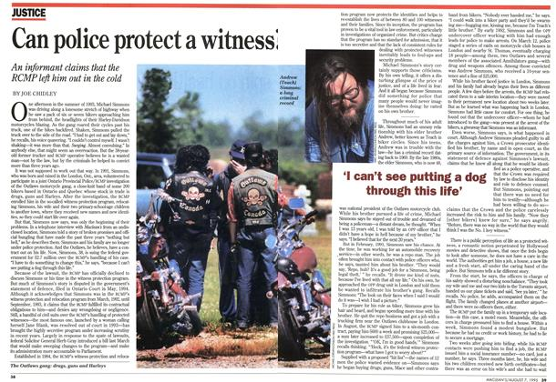 Article Preview: Can police protect a witness?, August 1995 | Maclean's