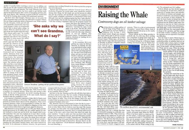 Article Preview: Raising the Whale, August 1995 | Maclean's