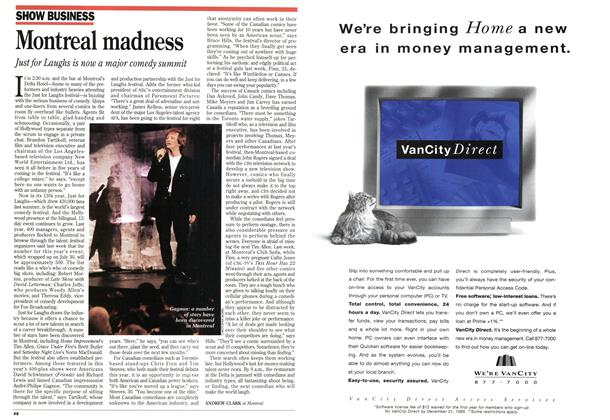 Article Preview: Montreal madness, August 1995 | Maclean's