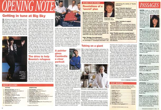 Article Preview: OPENING NOTES, August 1995 | Maclean's