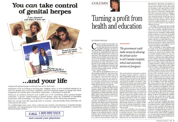 Article Preview: Turning a profit from health and education, August 1995 | Maclean's
