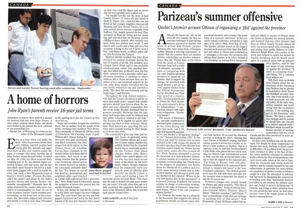 Article Preview: Parizeau's summer offensive, August 1995 | Maclean's