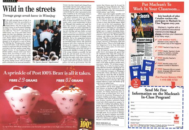 Article Preview: Wild in the streets, August 1995 | Maclean's