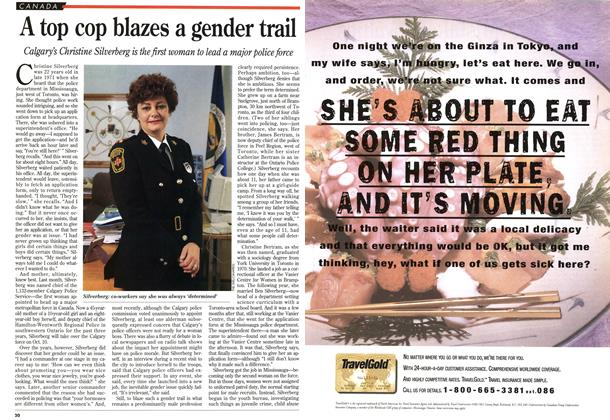 Article Preview: A top cop blazes a gender trail, August 1995 | Maclean's