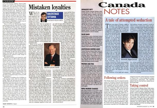 Article Preview: Canada NOTES, August 1995 | Maclean's