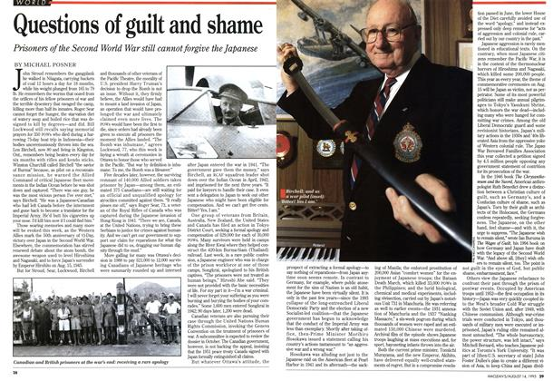 Article Preview: Questions of guilt and shame, August 1995 | Maclean's
