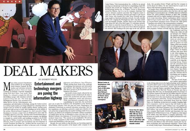Article Preview: DEAL MAKERS, August 1995 | Maclean's