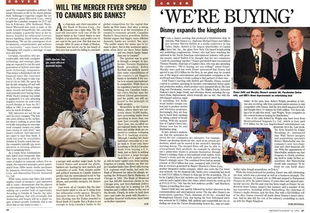 Article Preview: 'WE'RE BUYING', August 1995 | Maclean's