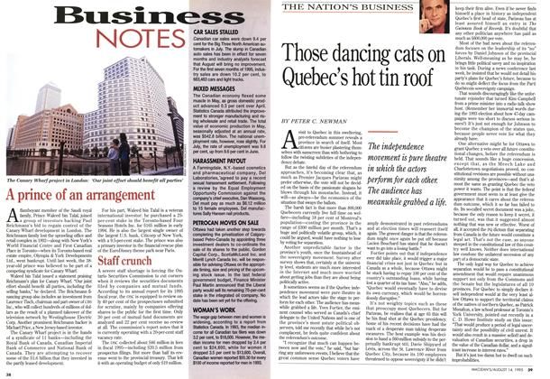 Article Preview: Those dancing cats on Quebec's hot tin roof, August 1995 | Maclean's