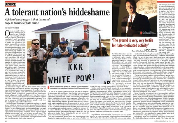 Article Preview: A tolerant nation's hiddenshame, August 1995 | Maclean's