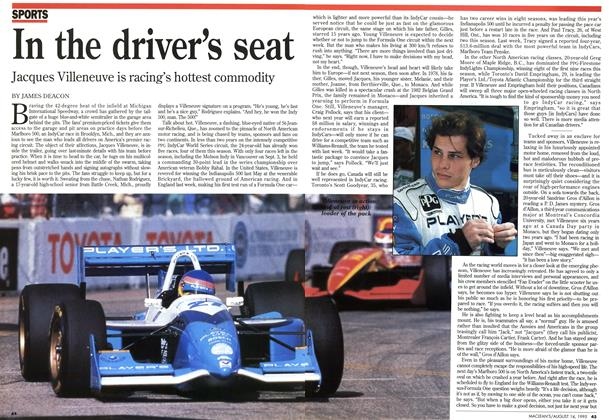 Article Preview: In the driver's seat, August 1995 | Maclean's