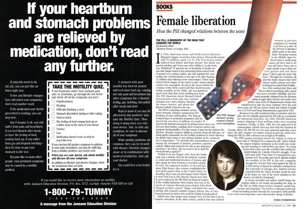 Article Preview: Female liberation, August 1995 | Maclean's