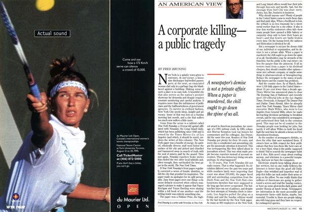 Article Preview: A corporate killing— a public tragedy, August 1995 | Maclean's