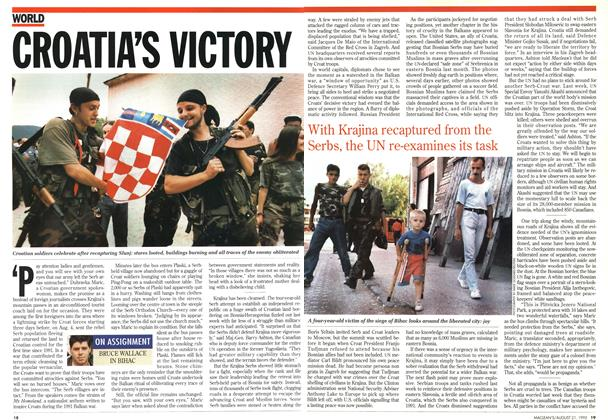 Article Preview: CROATIA'S VICTORY, August 1995 | Maclean's