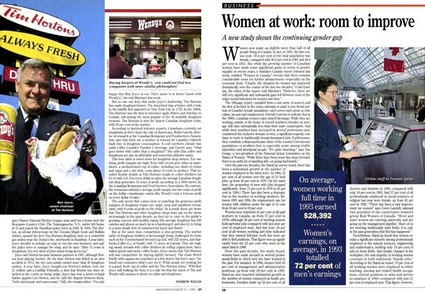 Article Preview: Women at work: room to improve, August 1995 | Maclean's