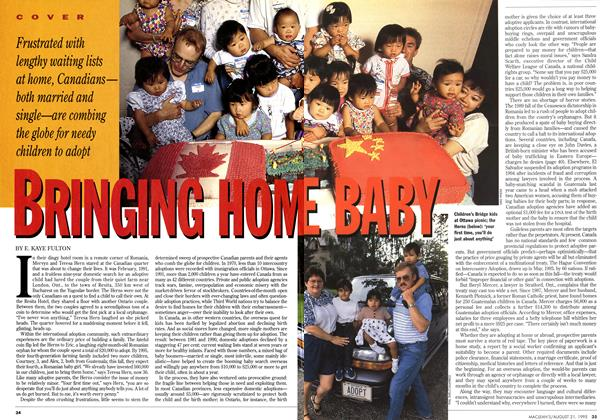 Article Preview: BRINGING HOME BABY, August 1995 | Maclean's