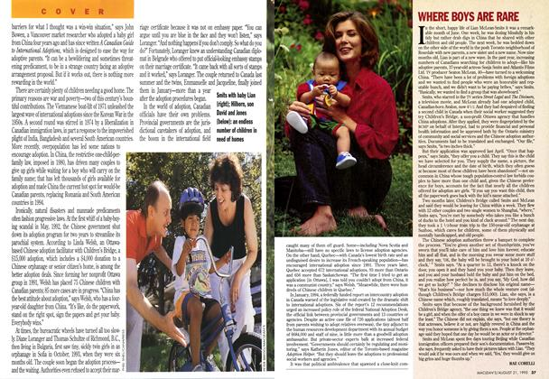 Article Preview: WHERE BOYS ARE RARE, August 1995 | Maclean's