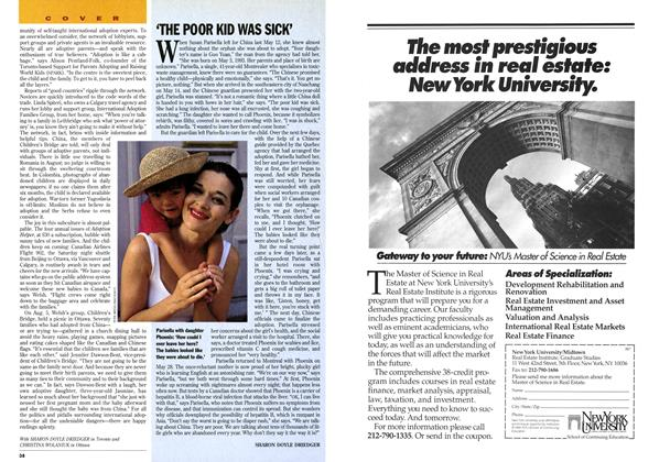 Article Preview: 'THE POOR KID WAS SICK', August 1995 | Maclean's