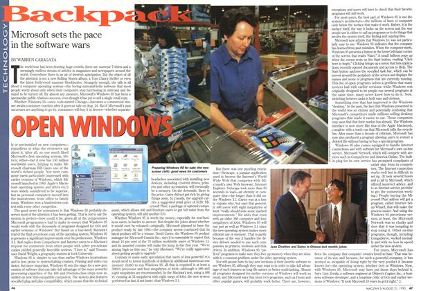 Article Preview: OPEN WINDOWS, August 1995 | Maclean's
