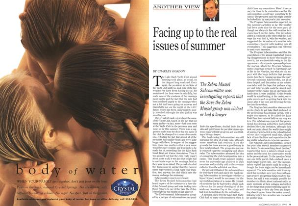 Article Preview: Facing up to the real issues of summer, August 1995   Maclean's