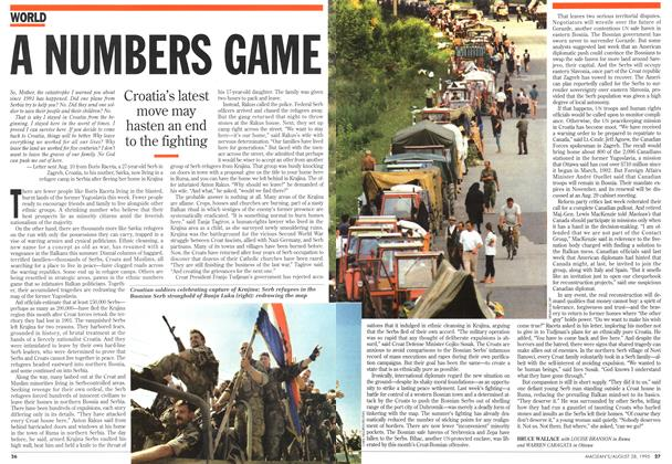 Article Preview: A NUMBERS GAME, August 1995 | Maclean's