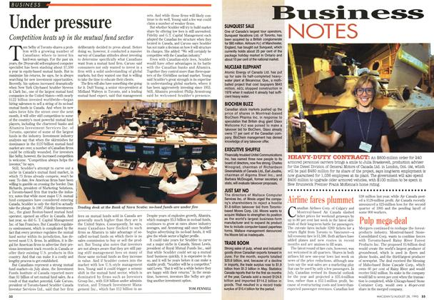 Article Preview: Under pressure, August 1995 | Maclean's