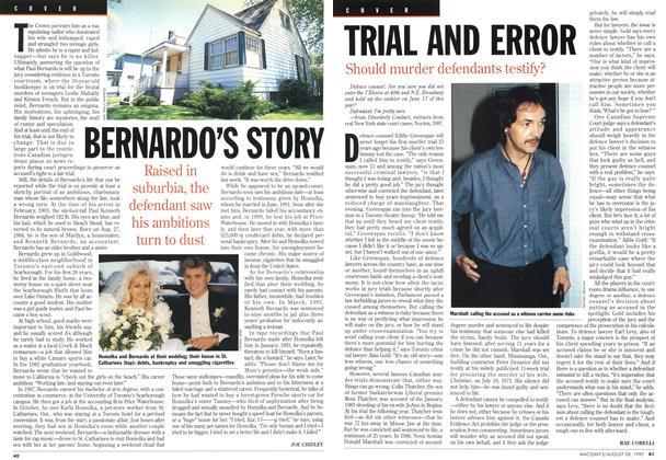 Article Preview: BERNARDO'S STORY, August 1995 | Maclean's