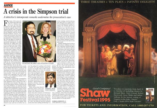 Article Preview: A crisis in the Simpson trial, August 1995 | Maclean's