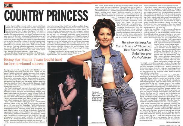 Article Preview: COUNTRY PRINCESS, August 1995 | Maclean's