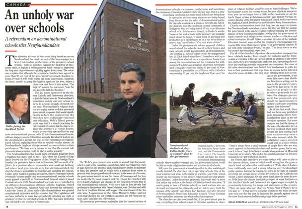 Article Preview: An unholy war over schools, September 1995 | Maclean's