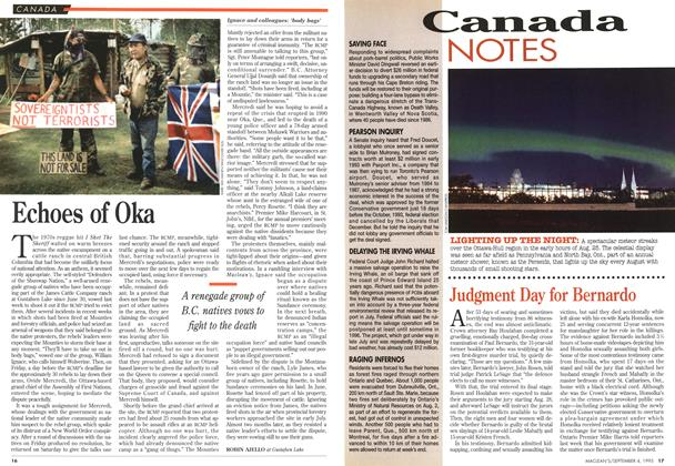 Article Preview: Echoes of Oka, September 1995 | Maclean's