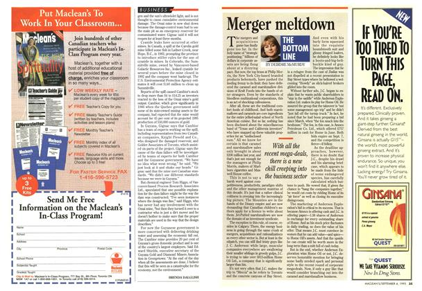 Article Preview: Merger meltdown, September 1995 | Maclean's