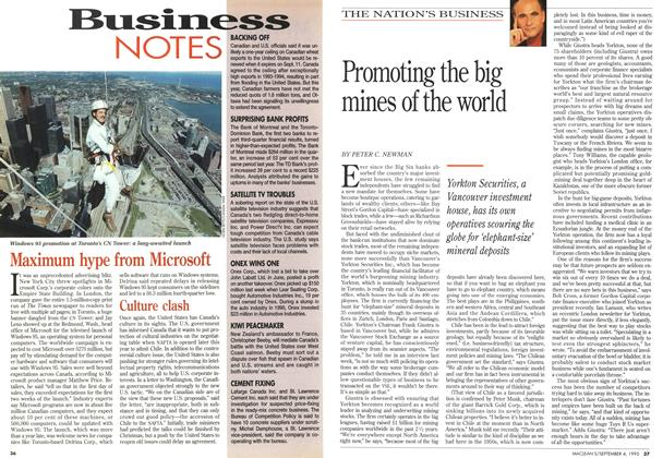 Article Preview: Promoting the big mines of the world, September 1995 | Maclean's