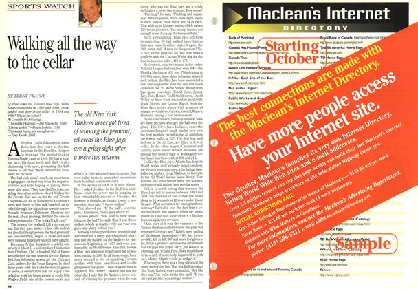 Article Preview: Walking all the way to the cellar, September 1995 | Maclean's