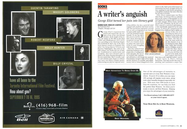 Article Preview: A writer's anguish, September 1995 | Maclean's