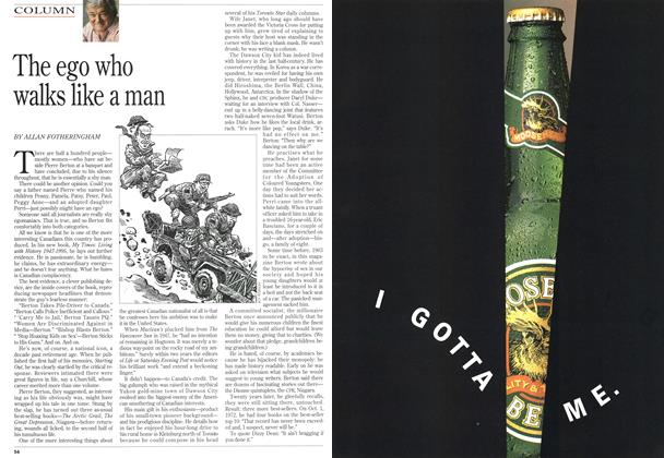 Article Preview: The ego who walks like a man, September 1995 | Maclean's
