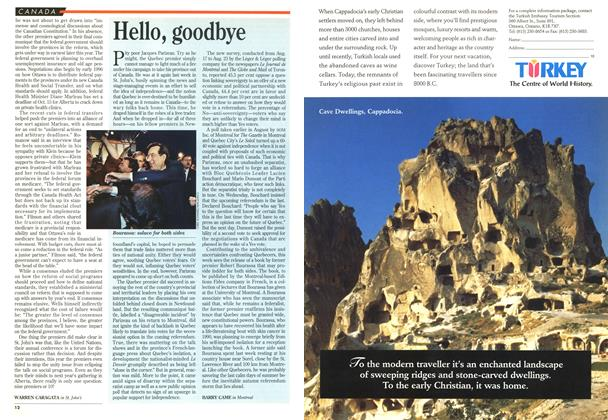 Article Preview: Hello, goodbye, September 1995 | Maclean's