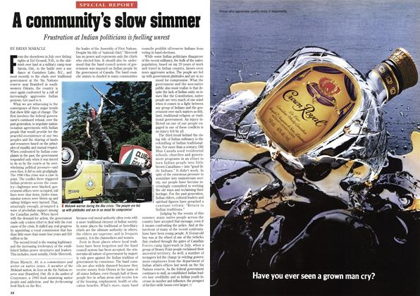 Article Preview: A community's slow simmer, September 1995 | Maclean's