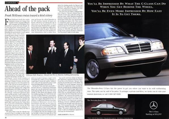 Article Preview: Ahead of the pack, September 1995 | Maclean's