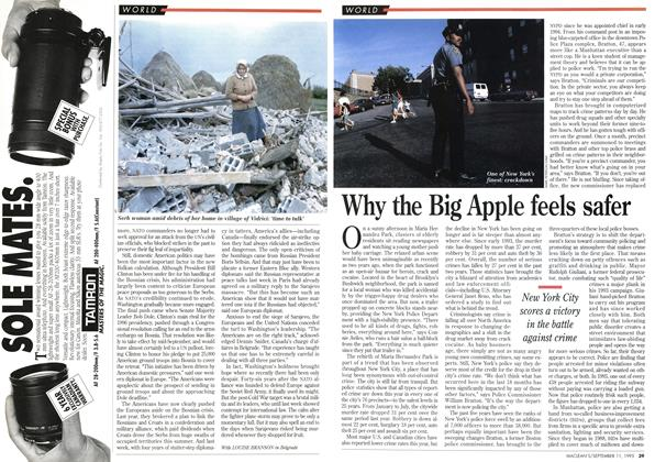 Article Preview: Why the Big Apple feels safer, September 1995 | Maclean's