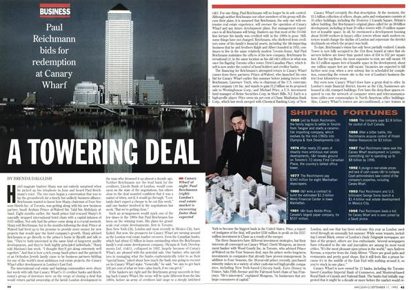 Article Preview: A TOWERING DEAL, September 1995 | Maclean's