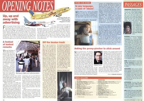 Article Preview: OPENING NOTES, September 1995 | Maclean's