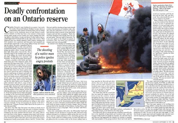 Article Preview: Deadly confrontation on an Ontario reserve, September 1995 | Maclean's