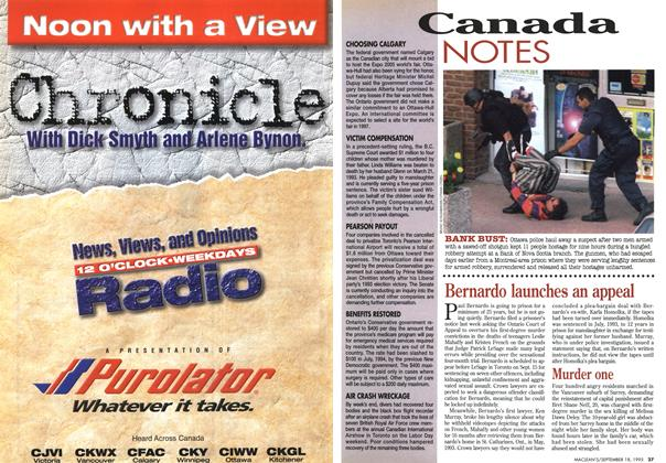 Article Preview: Canada NOTES, September 1995 | Maclean's