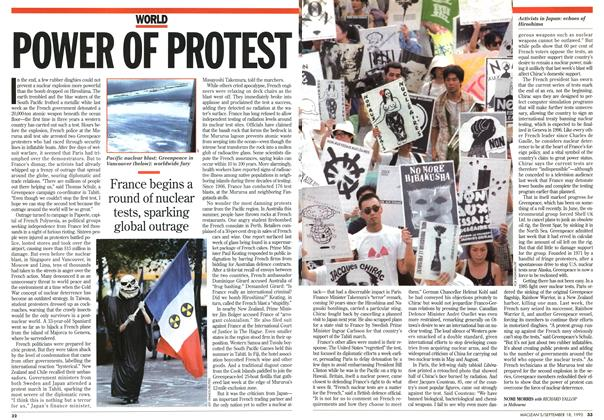 Article Preview: POWER Of PROTEST, September 1995 | Maclean's