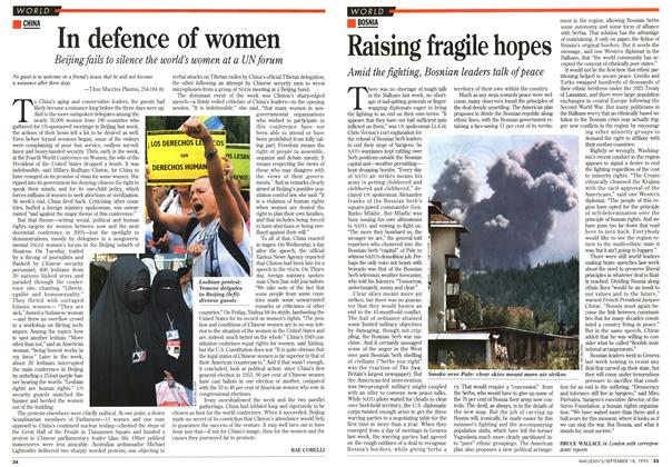 Article Preview: Raising fragile hopes, September 1995 | Maclean's