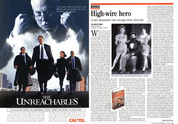 Article Preview: High-wire hero, September 1995 | Maclean's