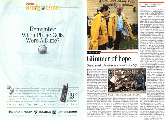 Article Preview: Glimmer of hope, September 1995 | Maclean's